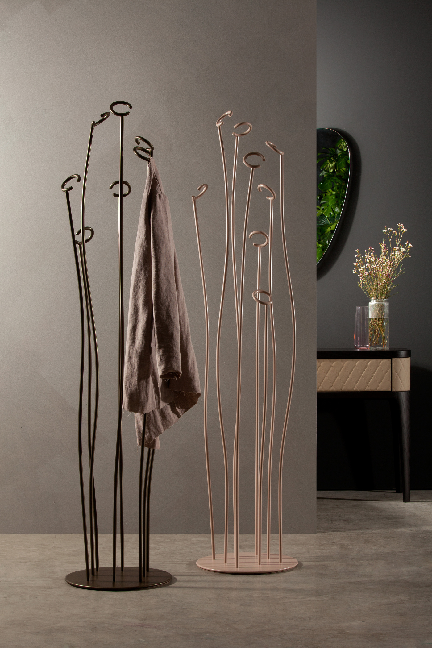 Attaccapanni Di Design.Dettagli Su Appendiabito Alga 7416 Tonin Casa Attaccapanni Design In Metallo Laccato Moderno